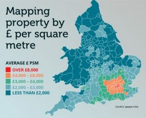 MAPPING THE COUNTRY BY £ PER SQUARE METRE