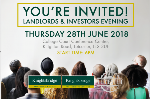 LANDLORD & INVESTORS EVENING - THURSDAY 28TH JUNE 2018