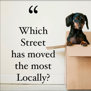 Which Street in Leicester has seen the most homeowners moving in the last 3 years?